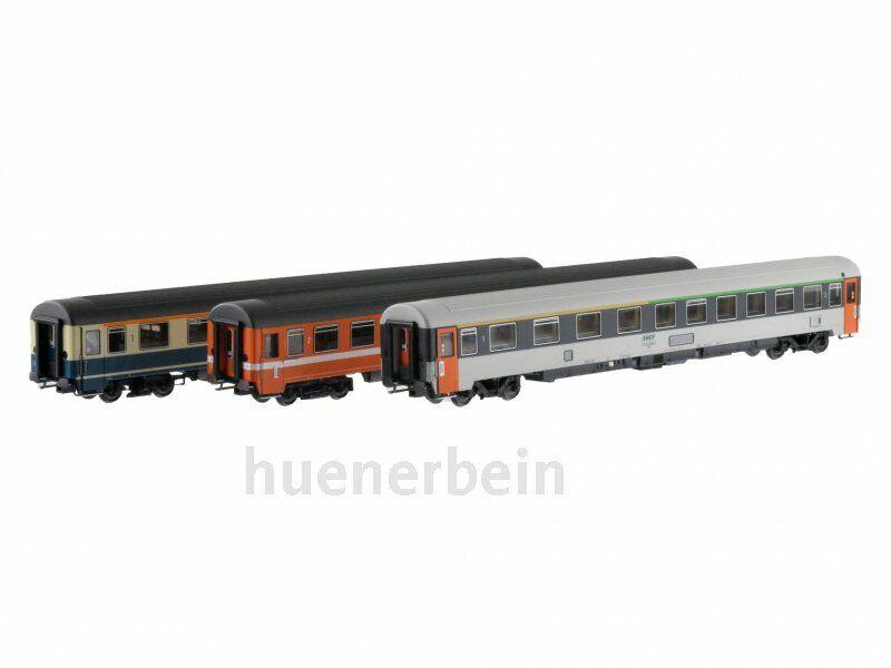 Acme 55101 schnellzugwagenset 3 piezas París-Frankfurt DB SNCF FS EP. 4 nuevo + embalaje original