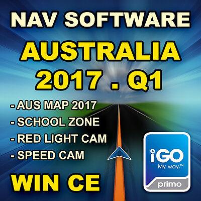 GPS / SAT NAV Software / iGo Primo 9 Australia Map 2017.Q1 for WinCE + Micro SD