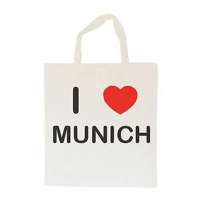 I Love Munich - Cotton Bag | Size choice Tote, Shopper or Sling