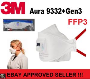 3M™ Aura™ Atemschutzmaske 9332+ GEN3 FFP3 FFP 3 IVentil - Genaration 3 - Edition