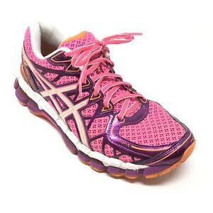 Women's Asics Gel Nimbus 14 Running Shoes Sneakers Size 6.5 B Purple Pink AI1   eBay