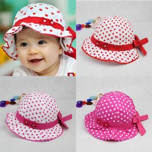 Baby Girls Newborn Toddler Lace Flower Sun Hat Hat Cap Summer Cotton ... bfeb64e041e