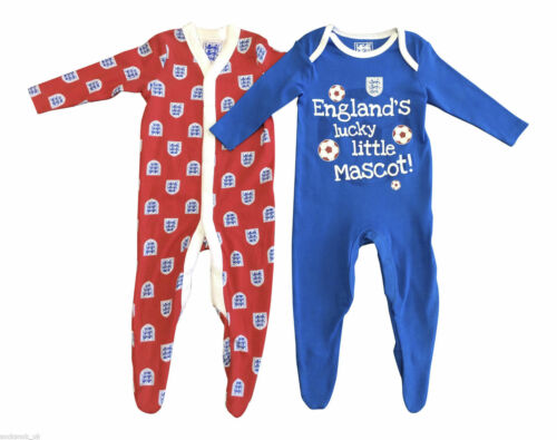 Red and Blue baby grows 2 Pack England Baby sleepsuits all sizes