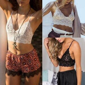 a34e4145f70850 AU Women See-Through Lace Bralette Bralet Bra Bustier Crop Top Cami ...