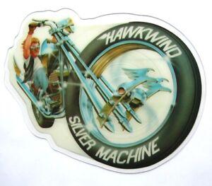 EX-EX-Hawkwind-Silver-Machine-Shaped-Vinyl-Picture-Pic-Disc