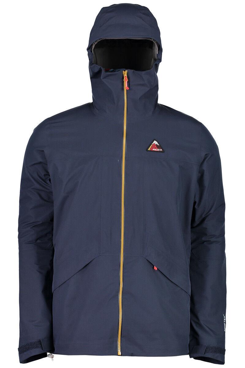 Maloja chaqueta BeatM chaqueta alta tecnología. Colors sólidos oscuros al viento azul