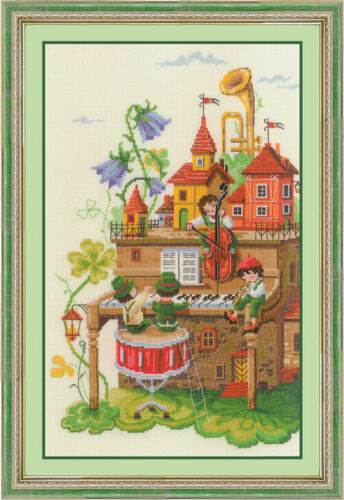 """Counted Cross Stitch Kit GOLDEN HANDS ZX-016 /""""Funny quartet/"""""""