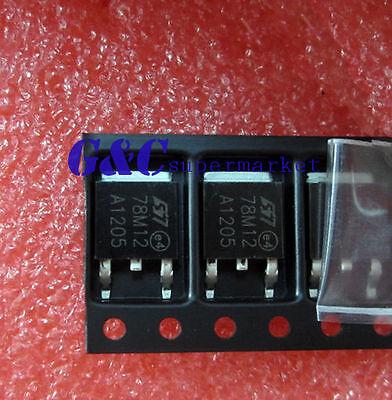 10PCS 78M12 IC REG LDO 12V ST  TO-252 NEW DATE CODE :12+ GOOD QUALITY