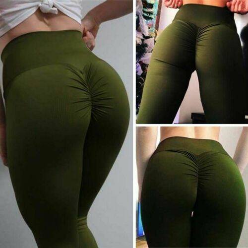 Women Sport Yoga Leggings Workout Gym Fitness Pants Athletic Stretch Trousers M