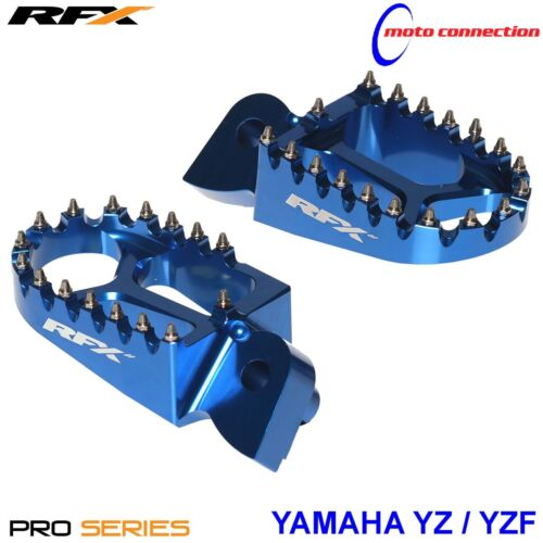 RFX PRO SERIES FOOT PEGS BLUE for YAMAHA YZ125 YZ250 YZF250 YZF450 2005-2019
