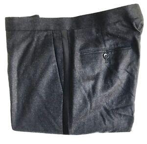 J-Crew-Side-Stripe-Wool-Pants-33-x-30-Slim-Fit-Italian-Fabric-Exc-Cond