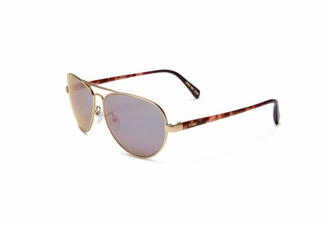 70f62a2daf34 TOMS Maverick 201 Aviator Sunglasses, SatinGold/VioletMirror - 10008585