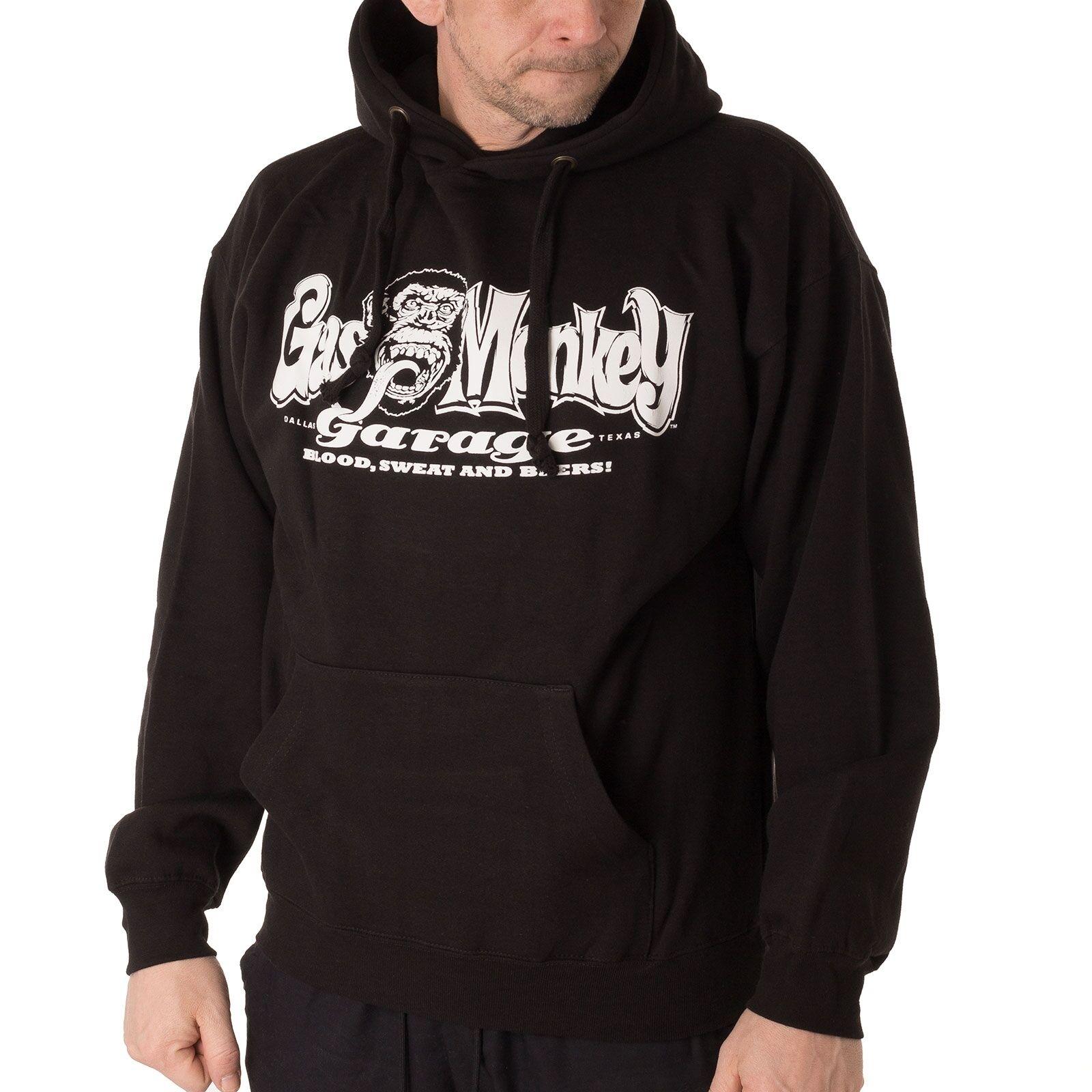 Gas Monkey GMG Embr Logo Hoodie Herren Kapuzenpullover schwarz 32831