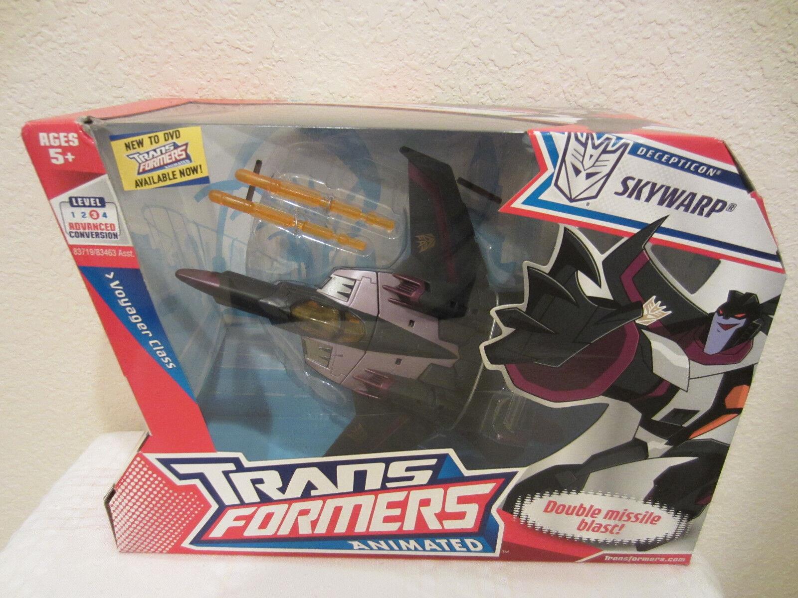 Transformers azione azione azione cifra Voyager classe Animated Decepticon cielowarp MISB 2007 35176e