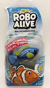 Blue Tang Fish Robo Alive Real-Life Robotic Pet Little Fish Zuru
