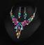 Fashion-Wedding-Caystal-Rhinestone-Choker-Bib-Necklace-Statement-Bridal-Jewelry thumbnail 77