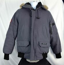 Limited Edt Canada Goose Pendleton Wool Chilliwack Bomber Jacket Graphite Size S