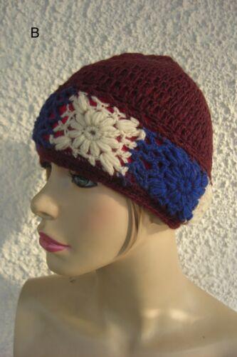 mütze ethno wolle rasta elf fee goa nepal hippie strick hut Casquette laine cap