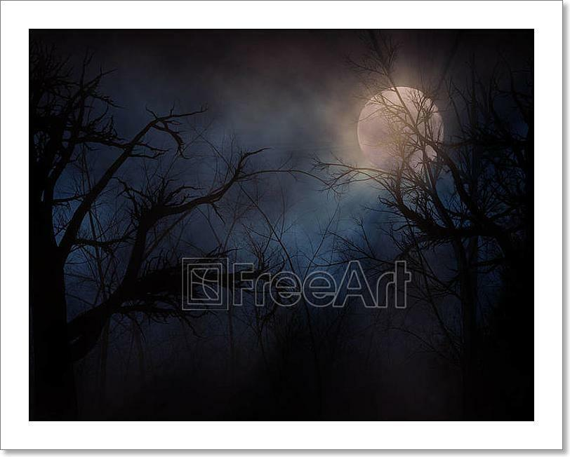 Haunted Forest Art Print Home Decor Wall Art Poster - E
