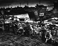 8x10 World War Ii Photo: Landing Craft Brings Invasion Supplies To Iwo Jima