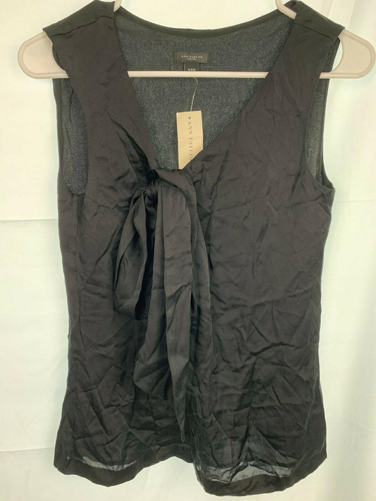 NWT Ann Taylor Silk Sleevless Top Size XXS MSRP