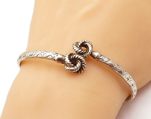 925 Sterling Silver - Vintage Knot Twist End Detai