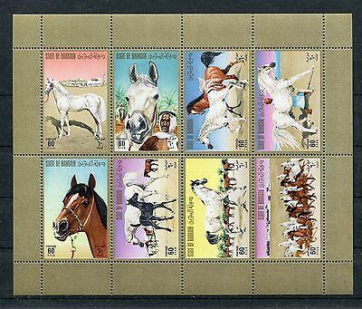 Bahrain 232/39 Kleinbogen Postfrisch / Pferde ............................1/1241 Supplement Die Vitalenergie Und NäHren Yin