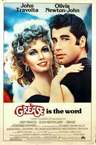 Vintage Grease Movie Poster  A3 Print