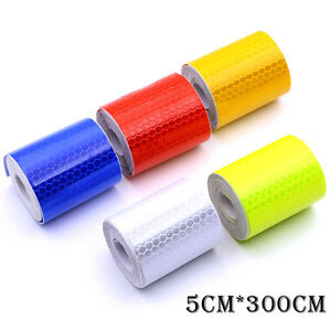 Car-Truck-Reflective-Self-adhesive-Safety-Warning-Tape-Roll-Film-Sticker-4-Color