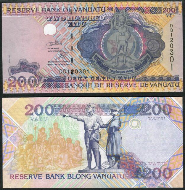 Vanuatu 200 Vatu ND(1995) P8b UNC - Prefix DD