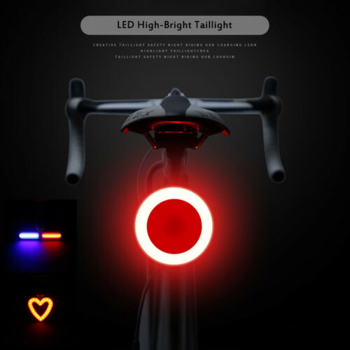 Bicycle Light Rechargeable Bike Rear Tail Light LED Warning Smart Lamp cycle CA