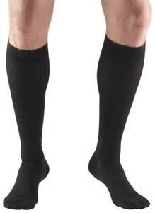 Truform-20-30-mmHg-Below-Knee-Soft-Top-Compression-Stockings-Closed-Toe-Black