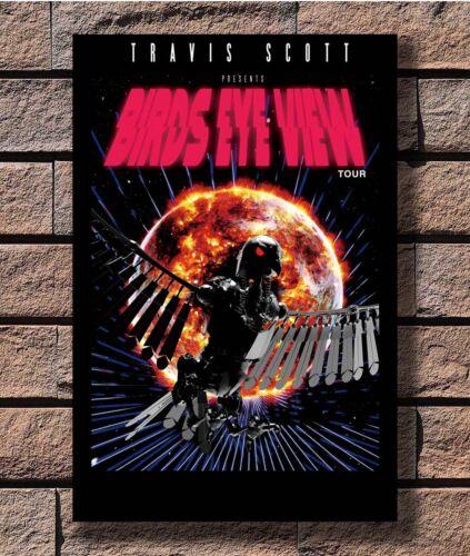 Travis Scott Birds Eye View 2017 Ltd Ed Tour T-1605 Art Poster 24x36 27x40