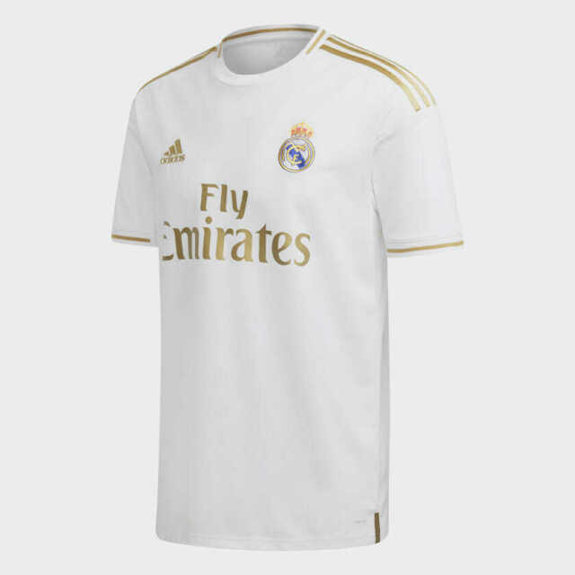 size 40 7a8e2 e97d8 adidas Real Madrid Home Jersey 2019/20 White and Gold Stadium Cut Size XL  Only