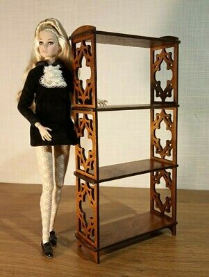 """4pcs chairs for Dolls 1//6 12/"""" 1//6 for Barbie,FR furniture RARE wooden v4"""