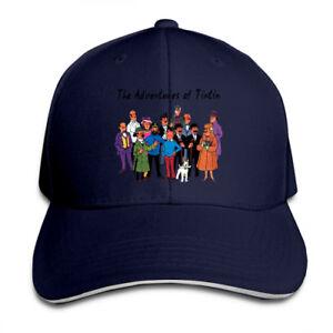 Tintin-Characters-Snapback-Baseball-Hat-Adjustable-Cap
