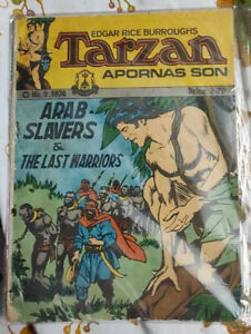 Rare Vidyarthi Mitram Comics TARZAN APORNAS SON #9 1974 English India Print