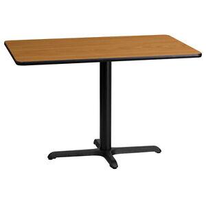 24'' X 42'' RECTANGULAR NATURAL LAMINATE TABLE TOP W/ 22'' X 30'' TABLE HT BASE