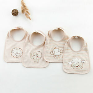 Newborn Toddler Cotton Baby Bibs Saliva Towel Kids Bib Feeding Towel N7