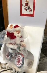 New-Dept-56-Clothtique-Possible-Dreams-Merry-Cruiser-Santa-Claus-Bike-Bicycle