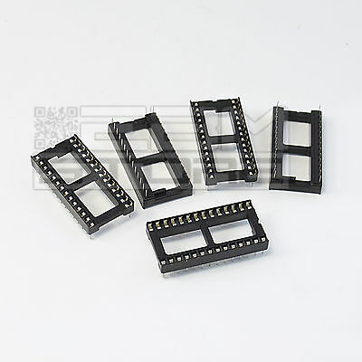 5 pz zoccoli 28 pin LARGHI per circuiti integrati DIL - ART. FY12
