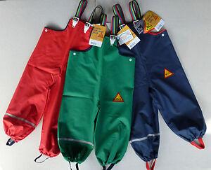 ABEKO Kinder Regenhosen Gr 80-130 Buddelhose Regenlatzhose Tjip Latzhosen NEU