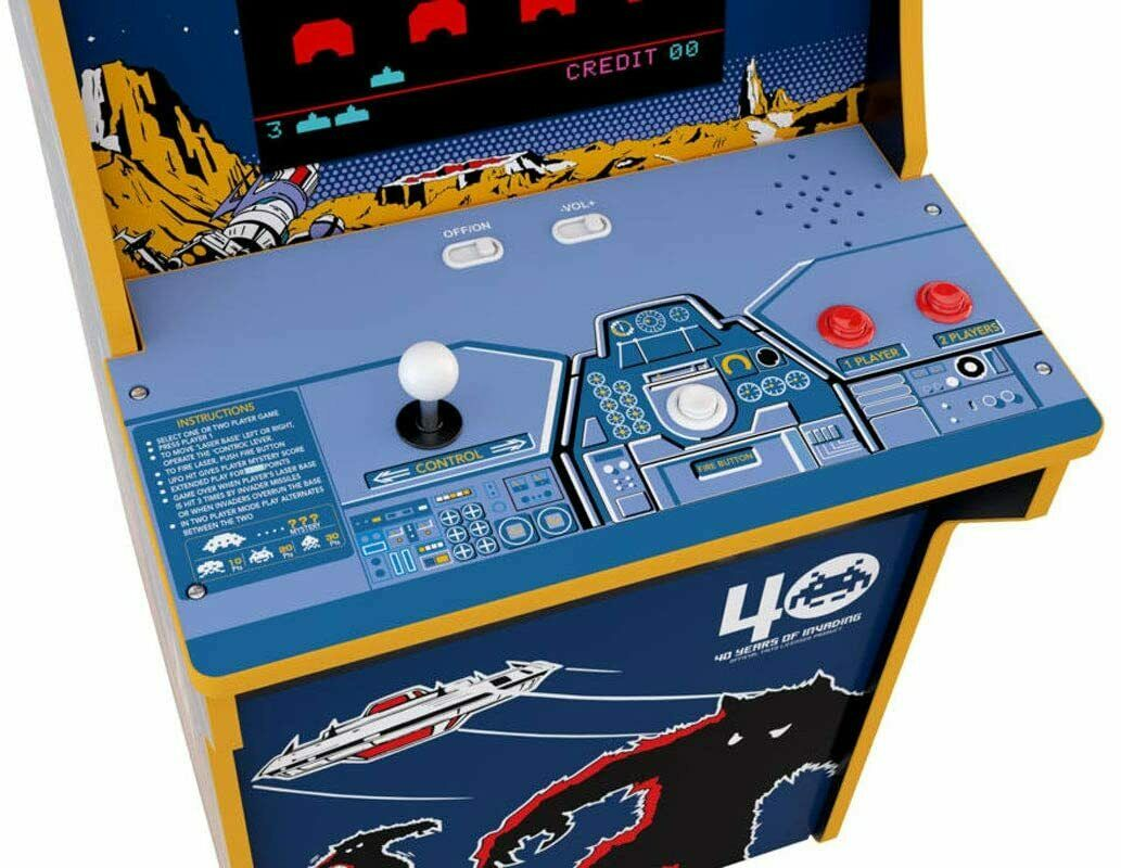 ARCADE 1-UP TAITO SPACE INVADERS ORIGINAL & SPACE INVADERS COLOUR - NEW & SEALED