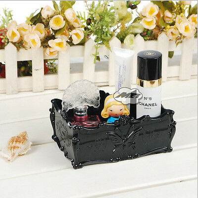 Retro Acrylic Makeup Cosmetic Storage Box Case Brush Pen Pencil Holder Organizer