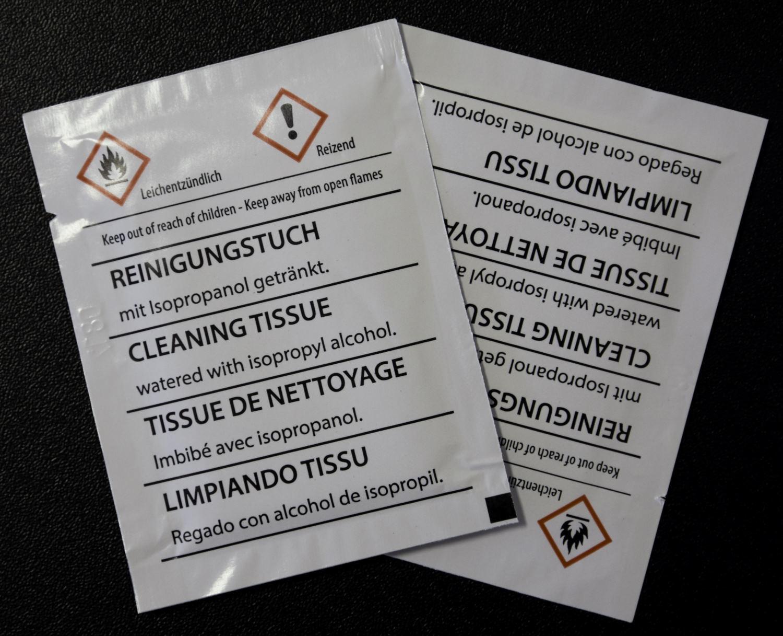 Reinigung Tuch Tücher Reinigungstuch Isopropanol feucht Alkohol 20 50 100 Stk
