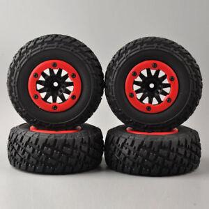 4X Tires/&Bead-Lock Wheel 12mm Hex For TRAXXAS Slash RC 1:10 Short Course Truck