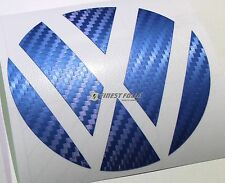 Emblem Ecken Carbon Blau hinten VW Golf 6 VI GTI GTD R Turbo Logo Folie Sticker