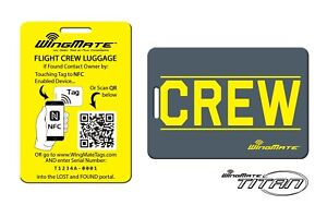Details about NFC Passive Tracking Luggage Tag by WingMate! Airline Flight  Crew Tag  YELLOW