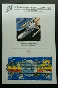 [SJ]USA Space Shuttle 1981 Rocket Astronomy Planet Earth (stamp on info sheet)