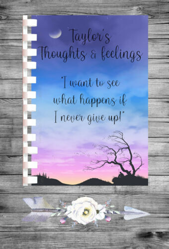 Personalised Mood Diary Tracker Mental Health Thoughts Feeling Colour Diary MD47